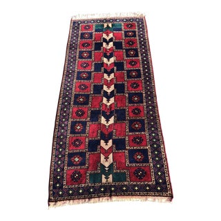 "Vintage Kurdish Wide Runner - 5'1"" x 12'"