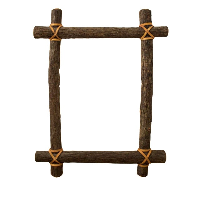 Rustic Ash Log Frame For Sale