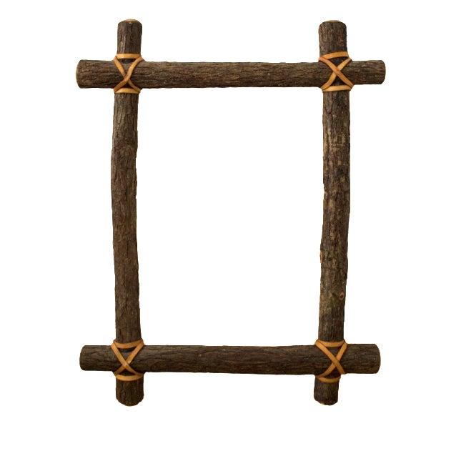 Rustic Ash Log Frame - Image 1 of 4