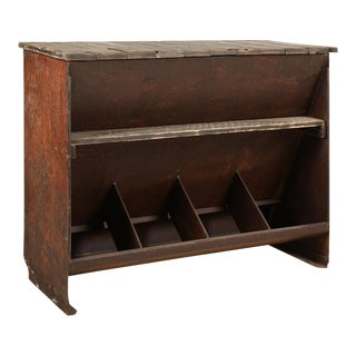 Reclaimed Black Iron Console For Sale