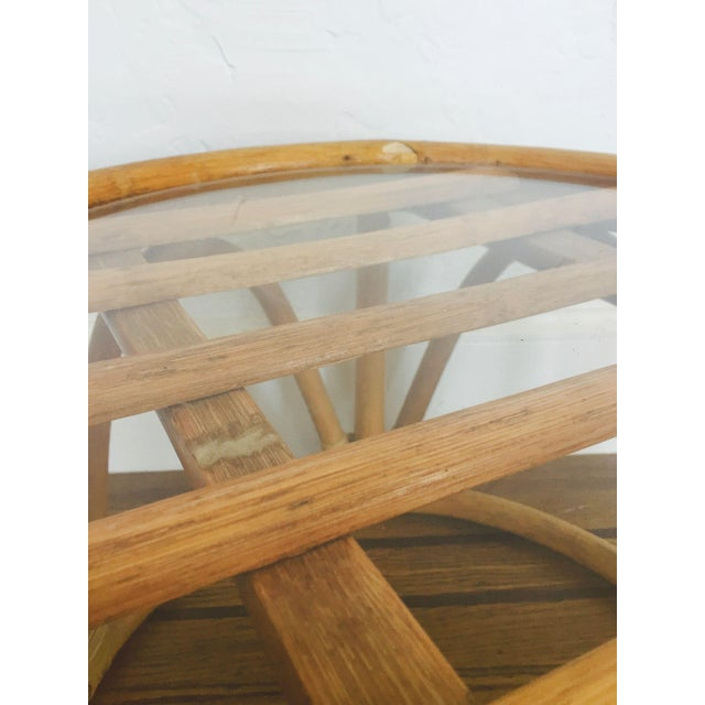 Vintage Bent Bamboo Side Table - Image 5 of 6