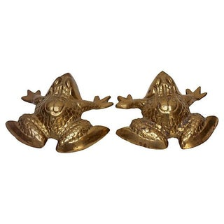 Brass Frogs - Pair For Sale