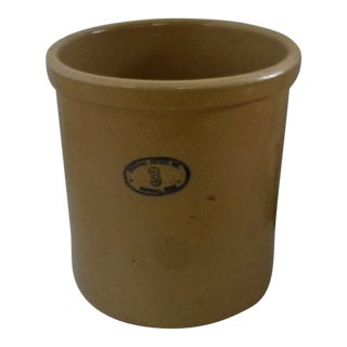Marshall Pottery 3 Gallon Stoneware Crock For Sale
