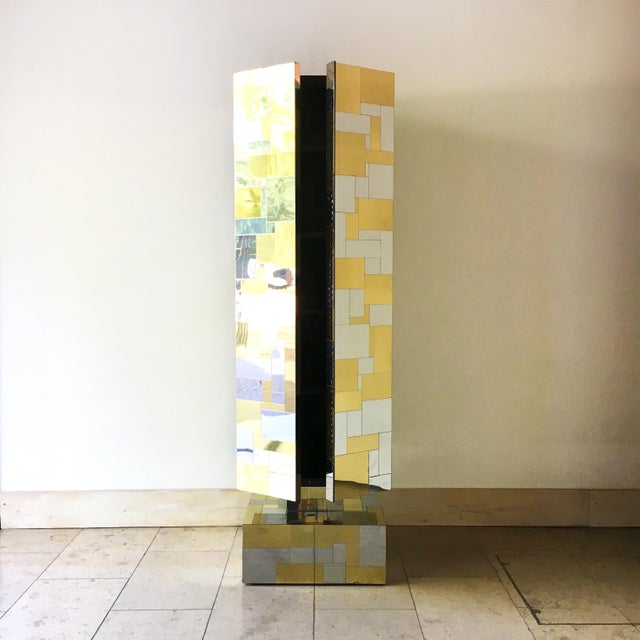 1970s Pair of Totem Cityscape Cabinets by Paul Evans 1970s For Sale - Image 5 of 12
