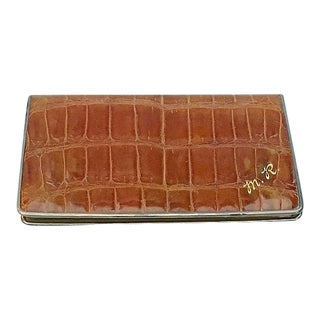 Vintage Monogrammed Alligator Card Case