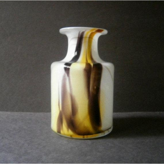 "A beautiful ""Cascade"" cased glass vase designed by Per Lutken for Holmegaard Denmark circa 1960s. It is signed on the..."