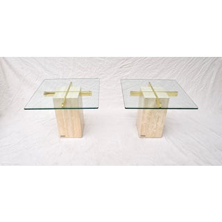 Artedi Travertine Marble Occasional Tables, Pair Preview