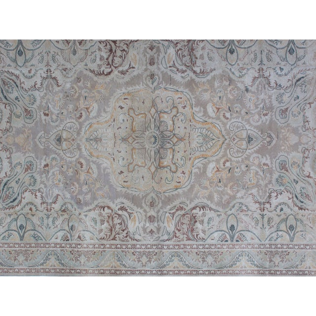 Persian 1950s Vintage Persian Tabriz Rug - 6′6″ × 9′10″ For Sale - Image 3 of 10