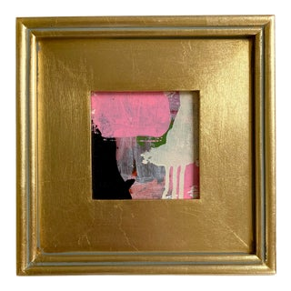 "Jessalin Beutler 2021 ""Curious Bovine"" Framed Painting For Sale"