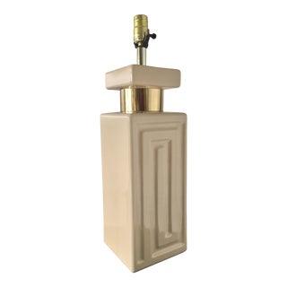 Vintage Greek Key Lamp For Sale