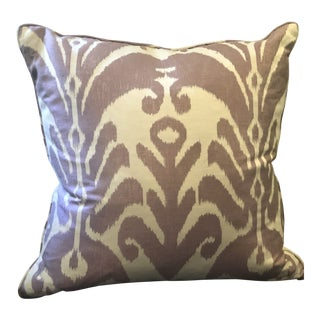 Purple and White Ikat Pillow For Sale