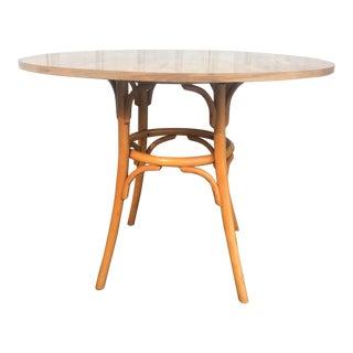 Vintage Boho Modern Round Dining Table For Sale