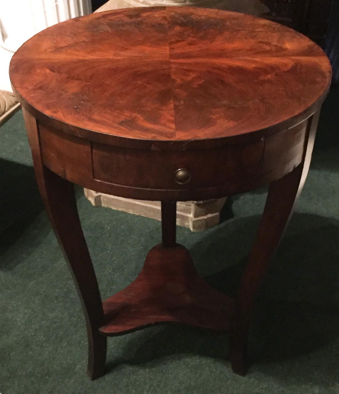 Antique Biedermeier Side Table   Image 3 Of 9