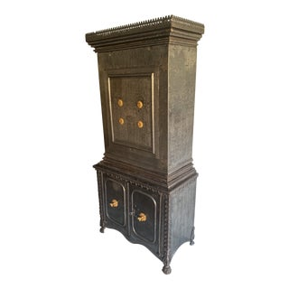 19th C French Steel Safe Cabinet For Sale