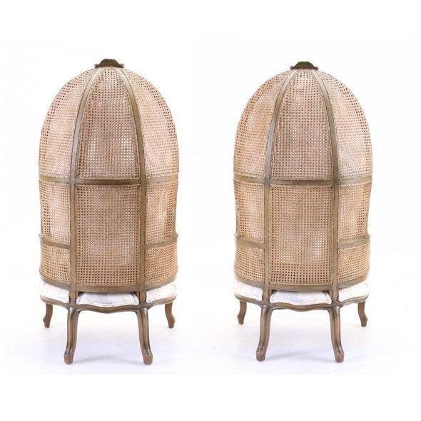 Vintage Mid Century Fully Cane Backed Porter Chairs - A Pair For Sale - Image 4 of 13
