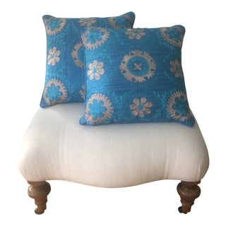 Berber Pillow Updates in Bright Peacock Blue