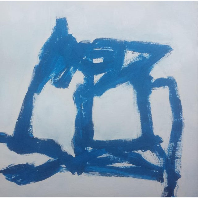 """""""Blue Abstract #1"""" Original Painting - Image 1 of 2"""