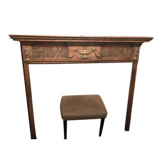 19th Century Antique European Pine Fireplace Mantel For Sale