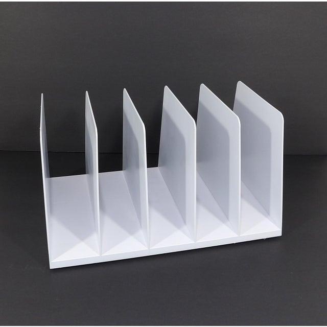 Plastic 20th Century Modern White Plastic Office Desk File Sorter For Sale - Image 7 of 8