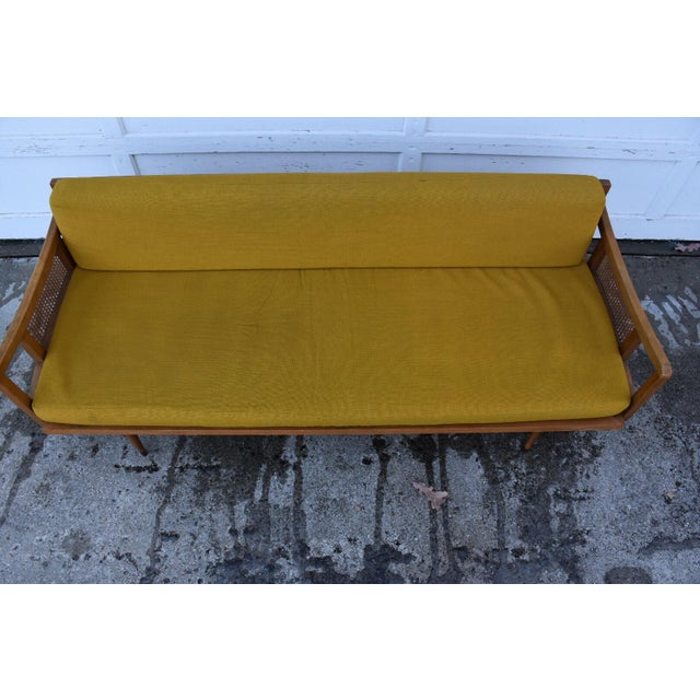 Danish Style Yellow Daybed - Image 6 of 10