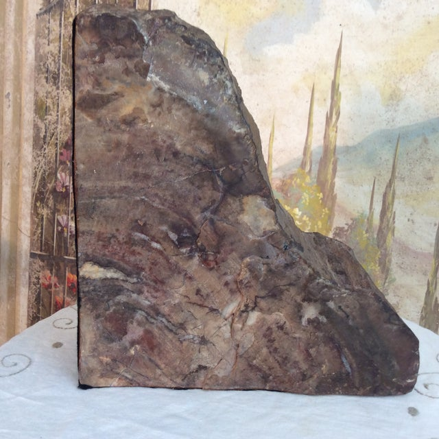 Large Petrified Wood Bookends - a Pair - Image 5 of 11