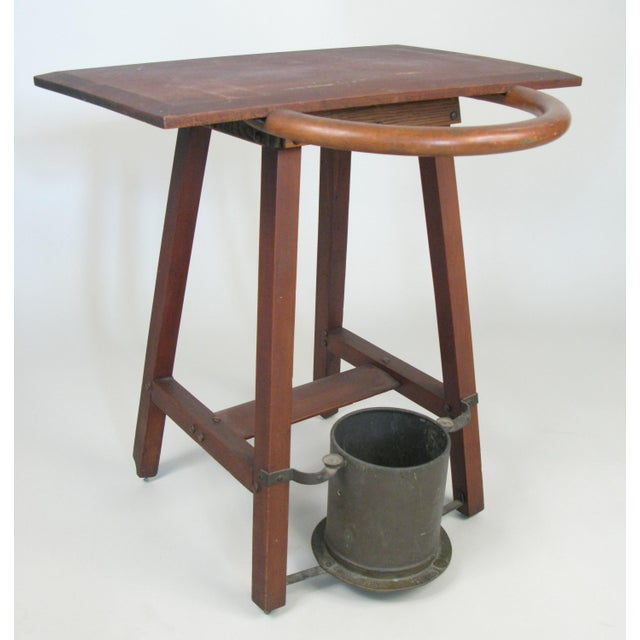 Wood Vintage Rustic 1940s Hall Table Umbrella Stand For Sale - Image 7 of 7