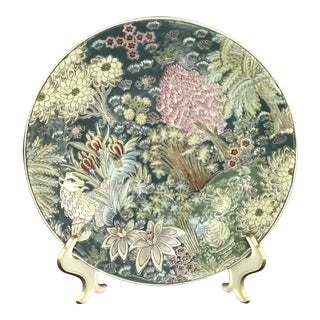 Chinese Rose Medallion Ceramic Decorative Plate For Sale
