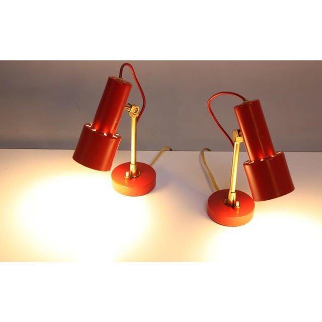 Pair of Mid-Century Italian Modern Petite Table Lamps / Sconces by Stilux - Image 6 of 11