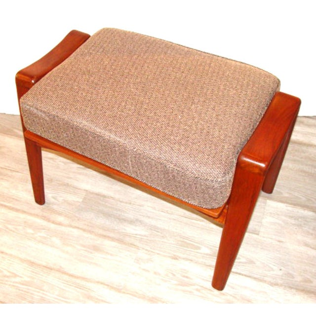 1960s Vintage Arne Wahl Iversen Chair and Ottoman Two Sets For Sale - Image 5 of 11