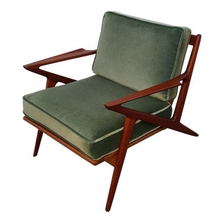 1960s Danis Modern Poul Jensen for Selig Z Chair Teak Side Chair