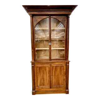 Mid 19th Century French Empire Walnut Bibliotheque For Sale