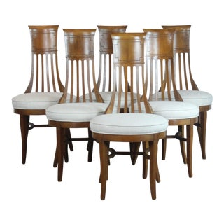 Vintage Mid Century Biedermeier Style Dining Chairs- Set of 6 For Sale