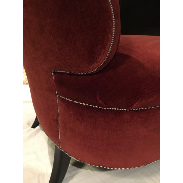 Truex American Furniture Red '21' Slipper Chair - Image 3 of 4