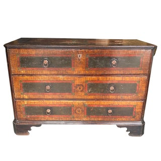 18th Century Continental Faux Painted Chest of Drawers For Sale