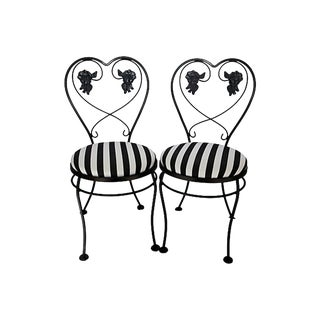 1950s Vintage Ice Cream Chairs - A Pair For Sale