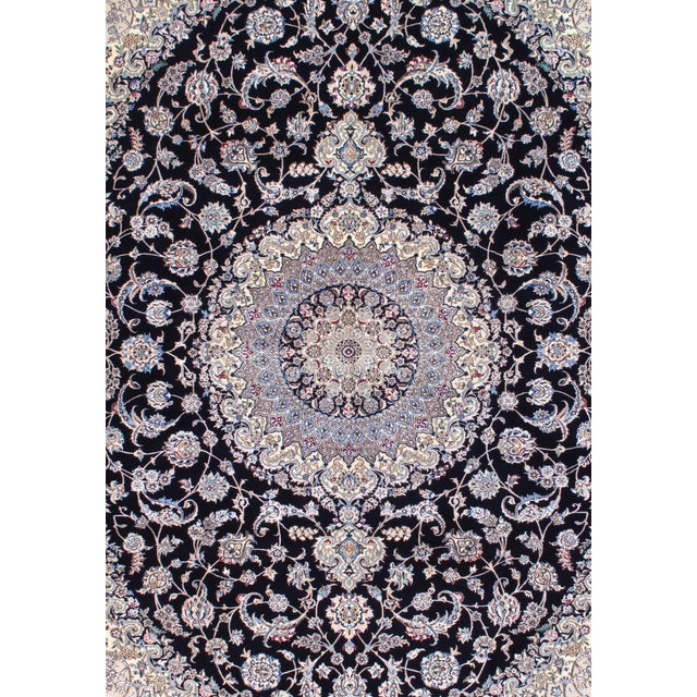 Original Fine Persian NAIN rug. Handmade Hand-knotted Lamb's Wool and Silk on a Cotton Foundation Design by HABIBIAN Woven...