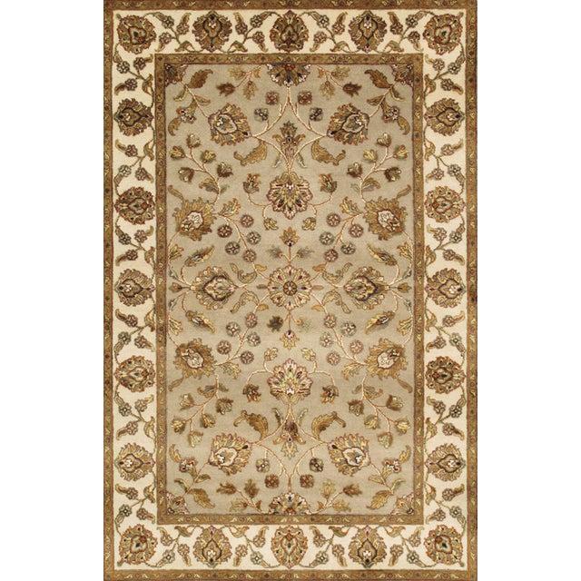 "Pasargad Agra Silk & Wool Rug- 4' x 6'2"" For Sale"