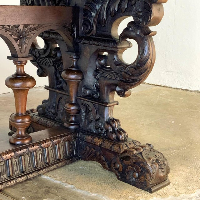 19th Century French Renaissance Octagonal Library Table For Sale - Image 10 of 13