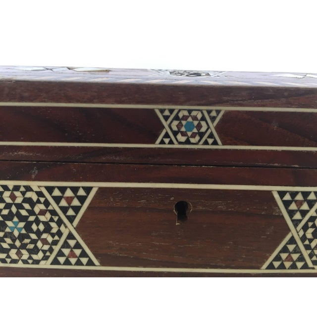 Large Islamic Syrian Wooden Micro Mosaic Box For Sale - Image 10 of 13