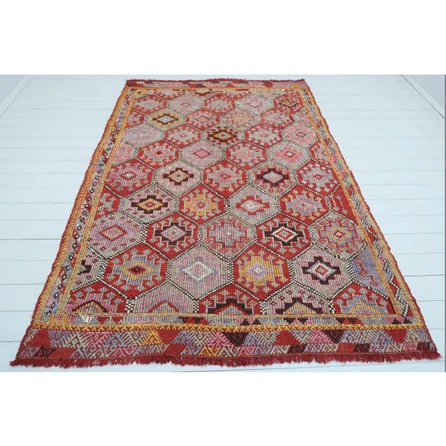 Vintage Turkish Fethiye Nomad's Flat Weave Rug For Sale - Image 12 of 12