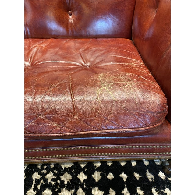 Vintage Tufted Leather Chesterfield Sofa For Sale - Image 12 of 12