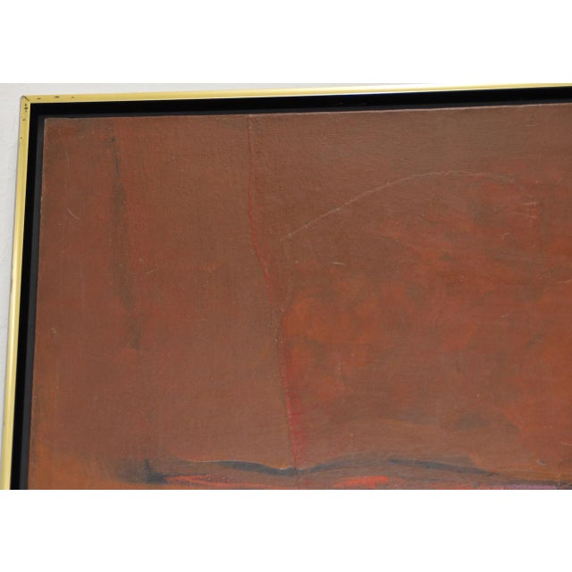 """Mid 20th Century Alexander Nepote """"Summit Bluff"""" Monumental Modernist Landscape C.1970 For Sale - Image 5 of 12"""