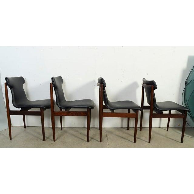 1960s 1960s Vintage Klingenberg for Fristho Danish Modern Rosewood Dining Chairs- Set of 4 For Sale - Image 5 of 10