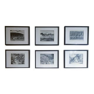 Set of 6 Framed Wpa Lithograph Prints For Sale