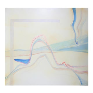Minimalist Abstract Expressionist Oil Painting, 1975 For Sale