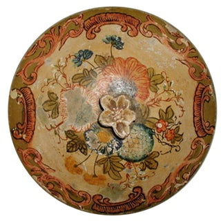 19th Century Italian Papier Mache Lid For Sale