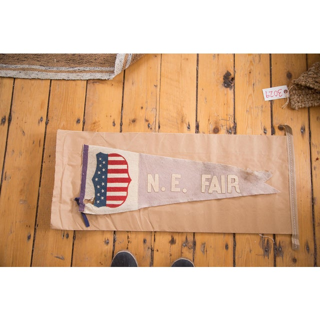 Antique NE Fair Felt Flag Pennant For Sale - Image 5 of 5