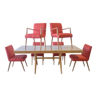 1950s Mid-Century Modern Widdicomb Th Robsjohn Gibbings Dining Set - 7 Pieces For Sale