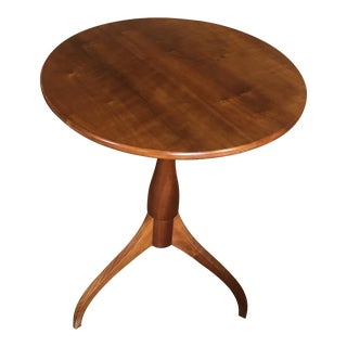 1970s Mid Century Danish Modern Cherrywood Pedestal Table