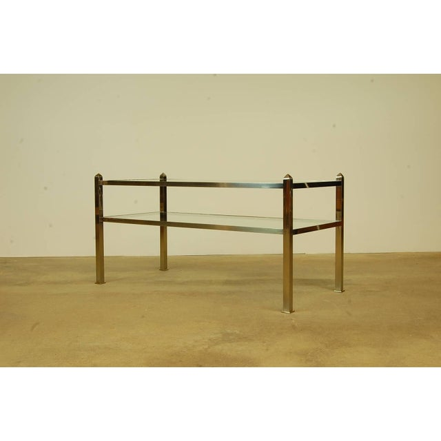 Donald Deskey Deco Table With Glass Shelves Attributed to Deskey-Vollmer For Sale - Image 4 of 4